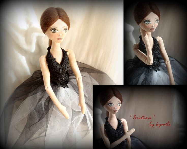 'Xristina' OOAK Art Doll by kymeli