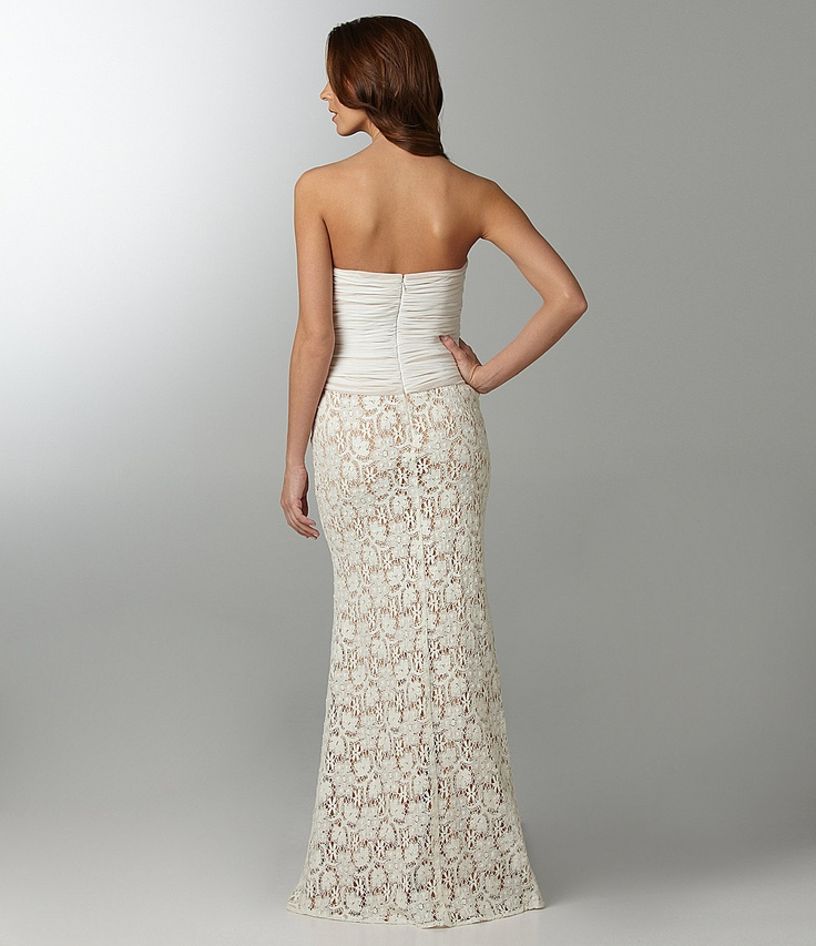 JS Collections Strapless Gown | Dillards.com | wedding dress - shoes ...