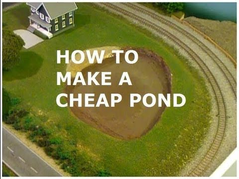 How to make a cheap model pond with an acrylic water kit for How to build a koi pond cheap