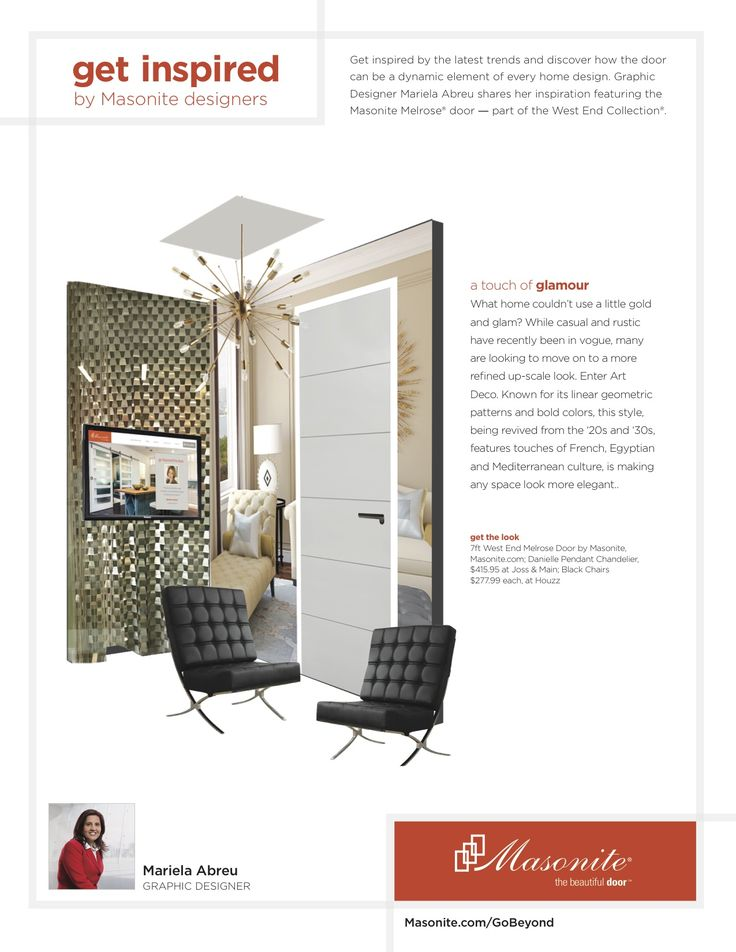 Graphic Designer Mariela Abreu shares her inspiration featuring the Masonite Melrose® door \u2014 part of & 52 best Badger Interior Doors \u0026 Millwork images on Pinterest ... Pezcame.Com