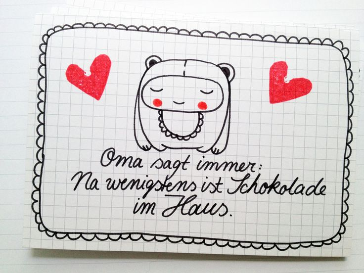 Postkarte 'Liebeskummer' // Postcard 'Lovesickness' by tigapigs via DaWanda.com