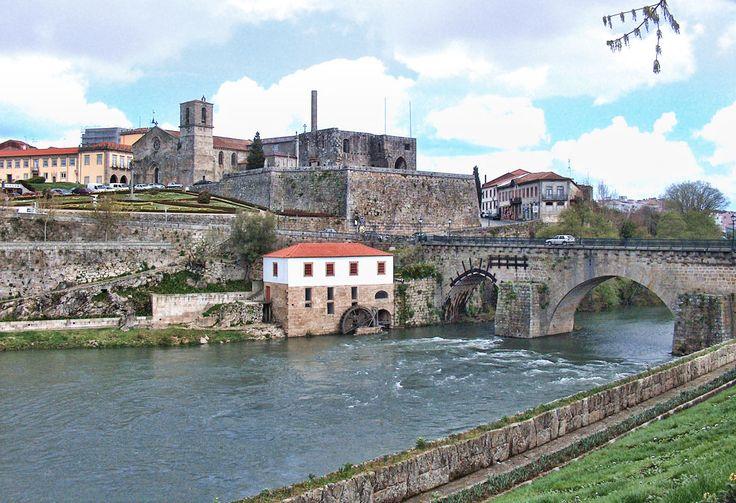 Barcelos Bridge, across the River Cávado,  Portugal