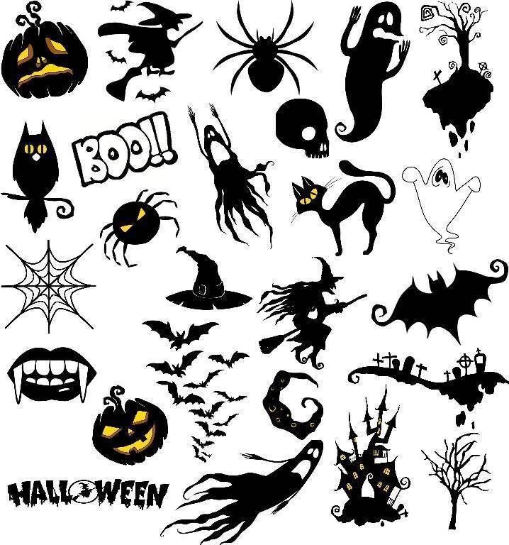 halloween mega set water transfer decals stickers nail art nails nailart