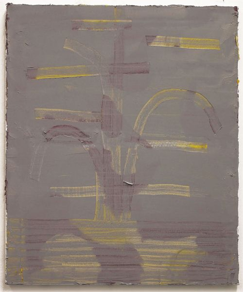 Stella Corkery, Fountain (Grey), 2013, oil and gesso on canvas, 51 x 61 cm