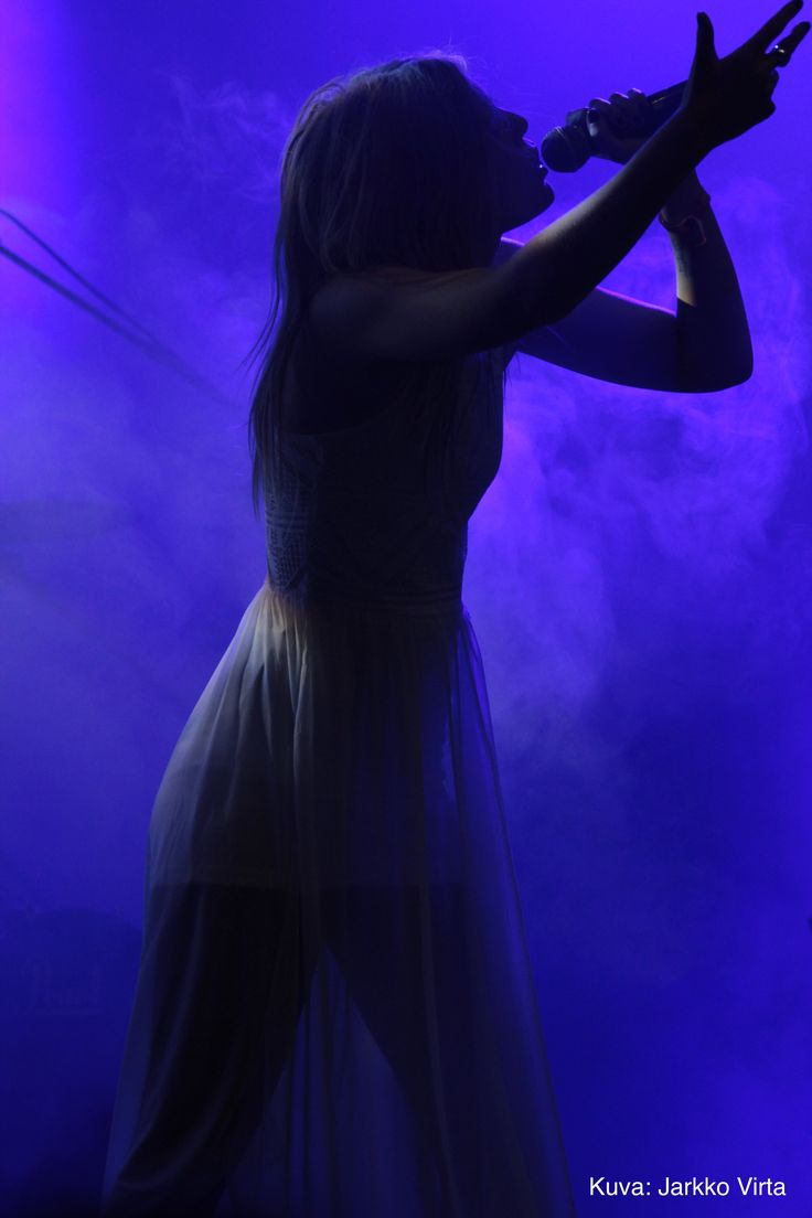 Amalie Bruun performing as Myrkur at TUSKA open air metal festival in 2016. Photo: Jarkko Virta