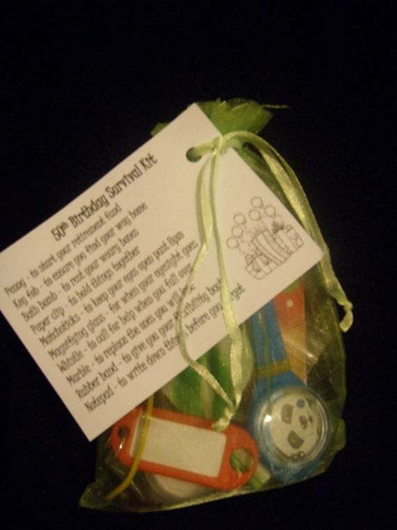 60th Birthday Survival Kit By Nicknacksgifts On Etsy Mum
