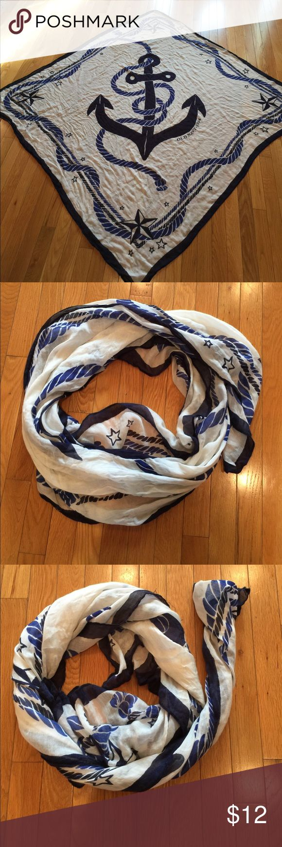 Old Navy scarf Old Navy large nautical scarf. Old Navy Accessories Scarves & Wraps