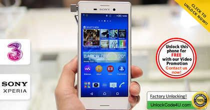 How to Unlock Sony Xperia M4 Aqua from Three Network