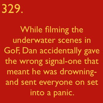 I would have liked to see that. It would have been funny. And id did not know he was actually underwater in that scene.