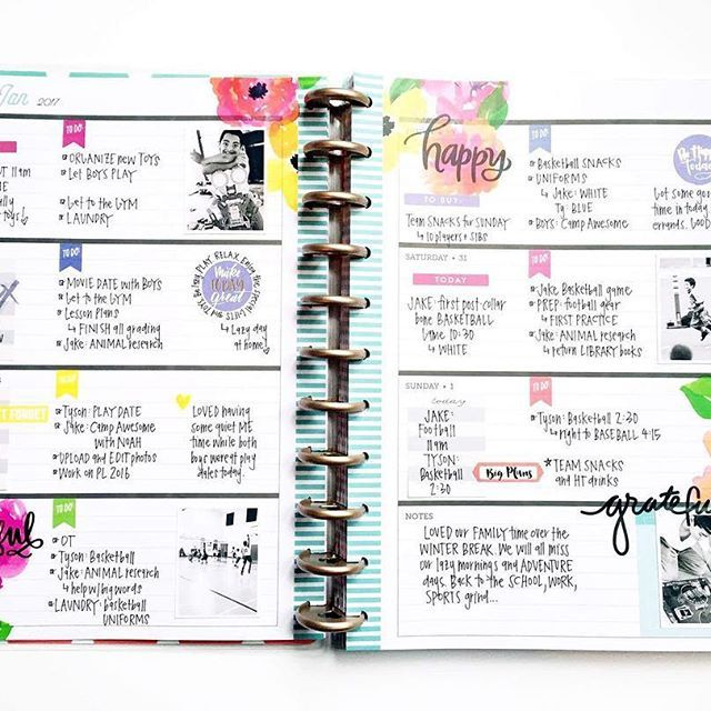 With the three sizes The Happy Planner® comes in: CLASSIC, MINI, and BIG, and the two layouts to choose from: VERTICAL or HORIZONTAL, you can now pick a planner that is best suited to exactly what you want to do with it! . . For mambi Design team member @momruncraft, the new BIG 'Delightful' Happy Planner® is working this week as the perfect memory planner! . . Head to the blog for details! #TheHappyPlanner @the_happy_planner #HoriztonalHappyPlanner #horizontalplanner #horizontallayout…