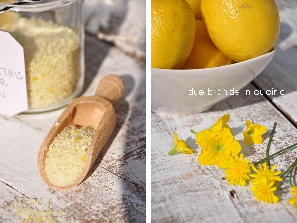 Due bionde in cucina: Sale aromatizzato al limone