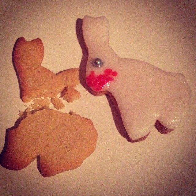 Killer rabbit #killer #rabbit #Caerbannog #cannibal #monty #python #christmas #cookies #biscuits #homemade #icing #decorations #tastesogood - @babs_jossi- #webstagram