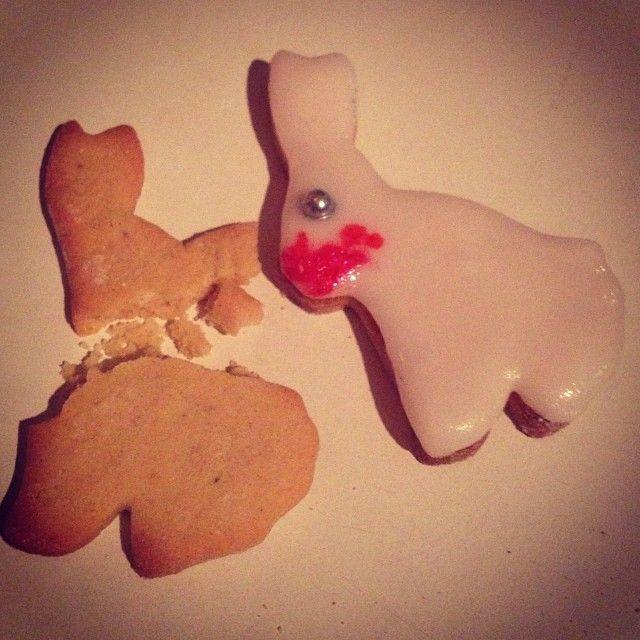 Killer rabbit #killer #rabbit #Caerbannog #cannibal #monty #python #christmas #cookies #biscuits #homemade #icing #decorations #tastesogood - @babs_jossi- #webstagram