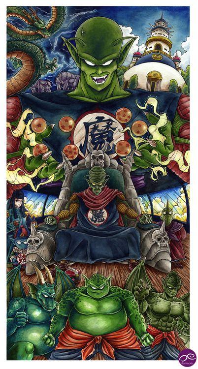 King Piccolo SagaAcuarela y tinta / Watercolor & Ink36 x 69 cm2014Oe Ilustración