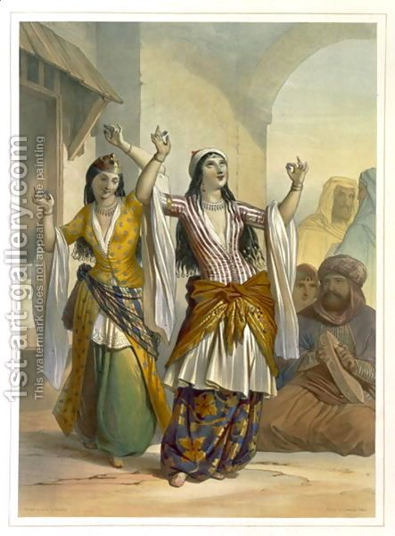 Ghawazi - Prisse d'Avennes. 1848