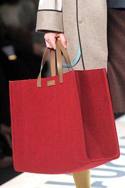 idea: bolso feria con tela a cuadros