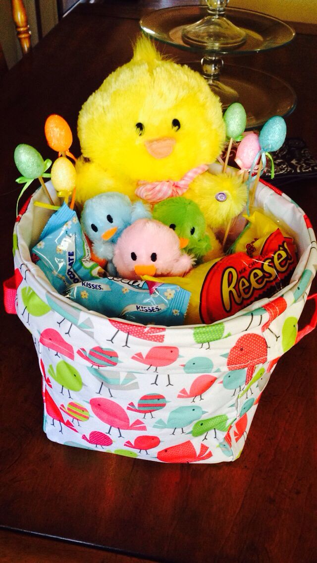 48 best mothers day easter spring images on pinterest 31 mini utility bin makes a cute easter basket this was put together by my daughter negle Image collections