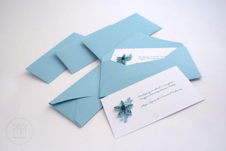 Podziękowania dla gości   Kartki ręcznie robione, zaproszenia ślubne handmade Poznań