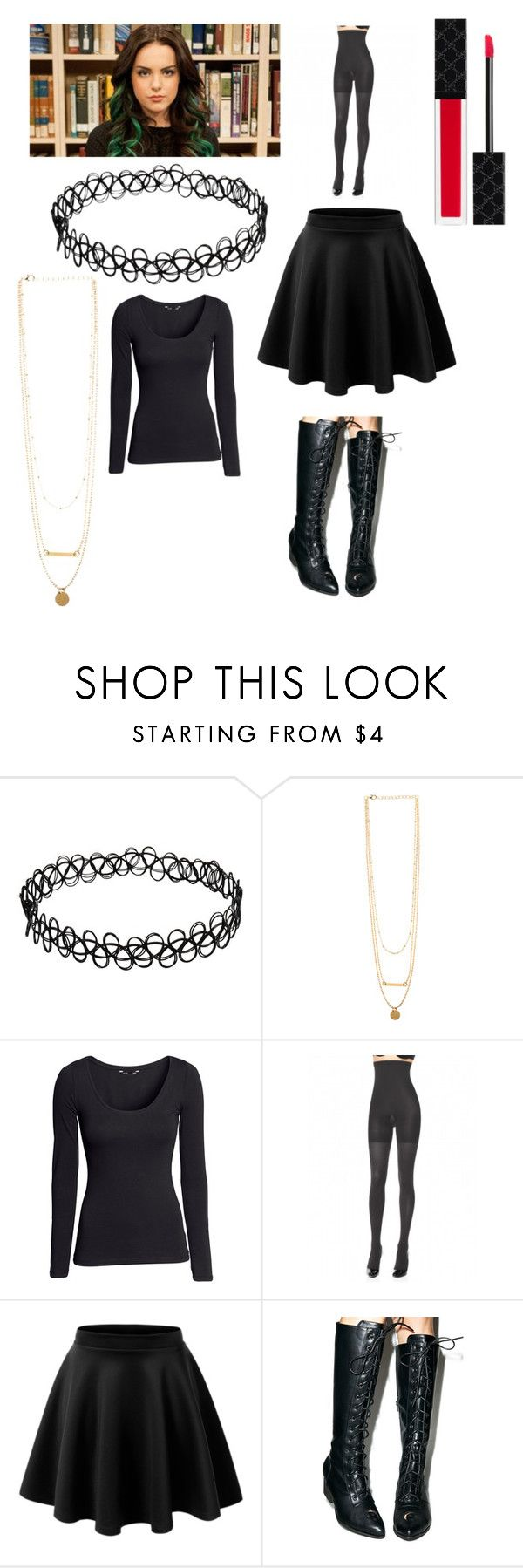 """DIY Jade from Victorious!"" by sisibff ❤ liked on Polyvore featuring H&M, SPANX, Y.R.U. and Gucci"