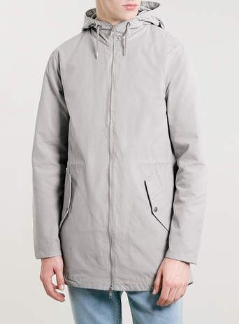 LIGHT GREY LIGHTWEIGHT PARKA - Sale