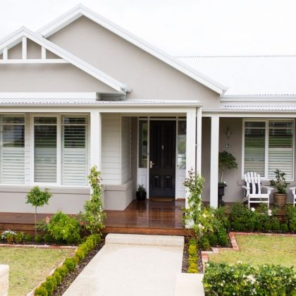 Best 25 home exteriors ideas on pinterest custom built for 70s house exterior makeover australia