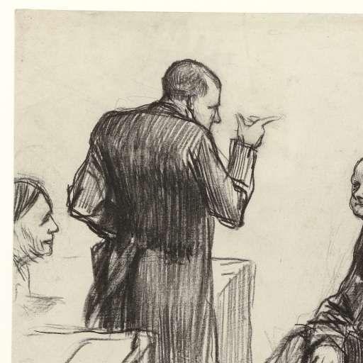 Kamerleden mr. H.C. Verniers van der Loeff, mr. A.J.W. Farncombe Sanders, mr. G.M. van der Linden, J. Willink en Jhr. mr. Ruys van Beerenbroek, door Pieter de Josselin de Jong, 1887 - Rijksmuseum