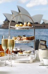 Outdoor Dining - high tea at the Park Hyatt Sydney