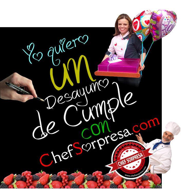 Desayuno Sorpresa de Cumpleaños con Chef a Domicilio en Bogotá | www.chefsorpresa.com     |    #desayunossorpresa #regalosoriginales