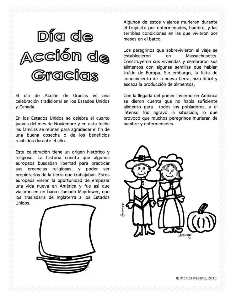 Dia de Accion de Gracias /Thanksgiving Day in Spanish  http://www.teacherspayteachers.com/Product/Spanish-Dia-de-Accion-de-Gracias-878202
