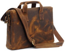Fashion Style Mens Leather Briefcase Shoulder Tote Laptop Bag Business Handbag