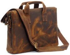 Fashion Style Mens Leather Briefcase Shoulder Tote Laptop Bag Business Handbag