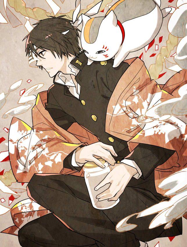 Tags: Anime, Natsume Yuujinchou, Pixiv, Nyanko-sensei, Tanuma Kaname   Brain's Base   Yuki Midorikawa