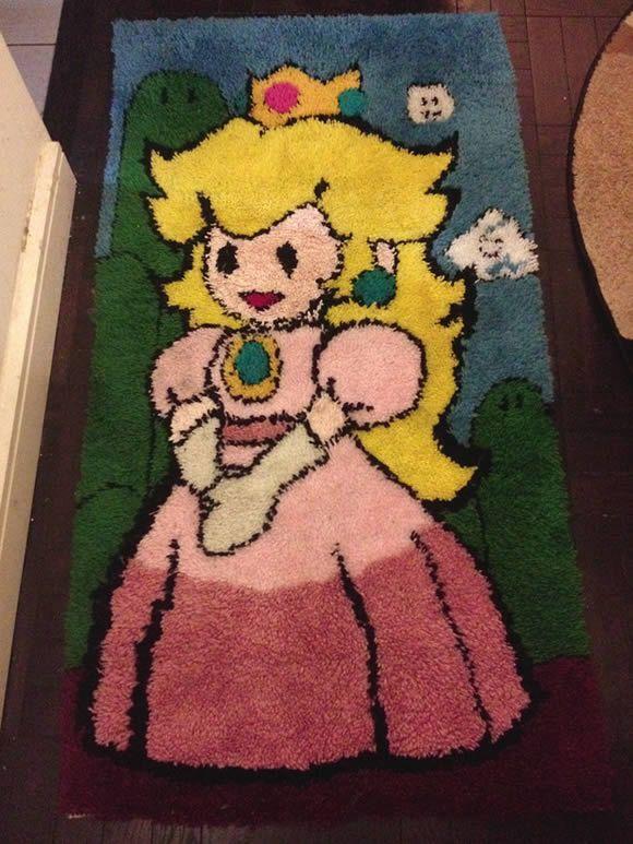 Tapete da Princesa Peach para decorar a casa dos fãs de Super Mario