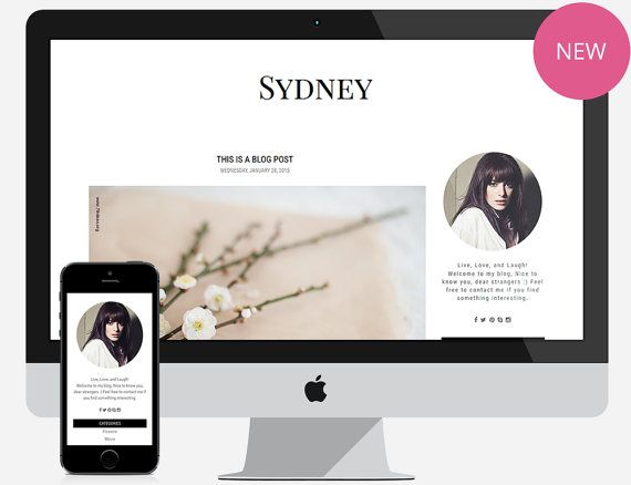 40 best Blogger and Wordpress Templates images on Pinterest - fashion blogger templates