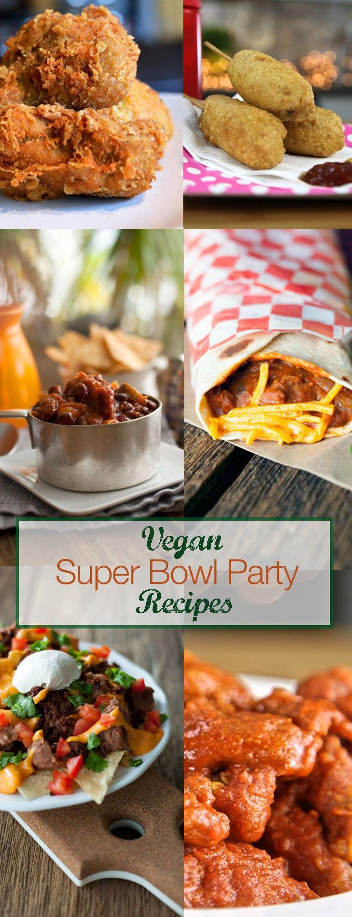 As a vegan there are plenty of veg-friendly dishes that are just as gluttonous and satisfying as their traditional counterpart. From cheesy dips to messy nachos and ooey-gooey wings, here are my favourite vegan tailgate and super bowl party foods. super bowl recipes vegan