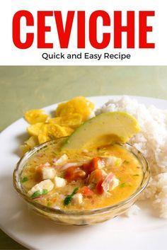 How to make ceviche - quick and easy recipe for Ecuadorian ceviche ~ http://www.baconismagic.ca