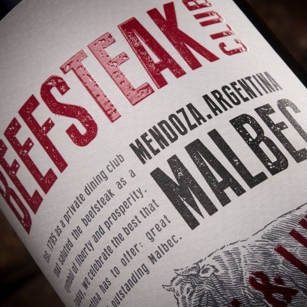 Beefsteak Club Malbec: Beef and Liberty - Thank you to Multilabels #wine