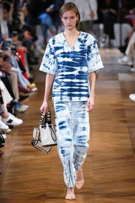 Stella Mccartney Bleached Denim Top Global Fashion Week Ss19