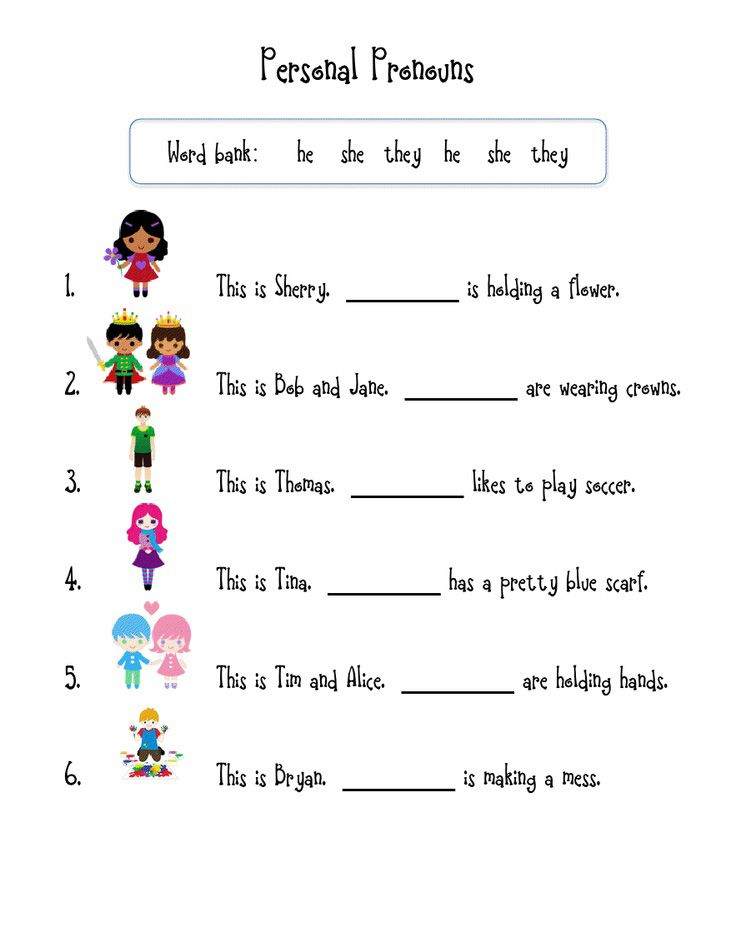 1st Grade English Worksheets - Best Coloring Pages For Kids Personal  Pronouns, Personal Pronouns Worksheets, Pronoun Worksheets