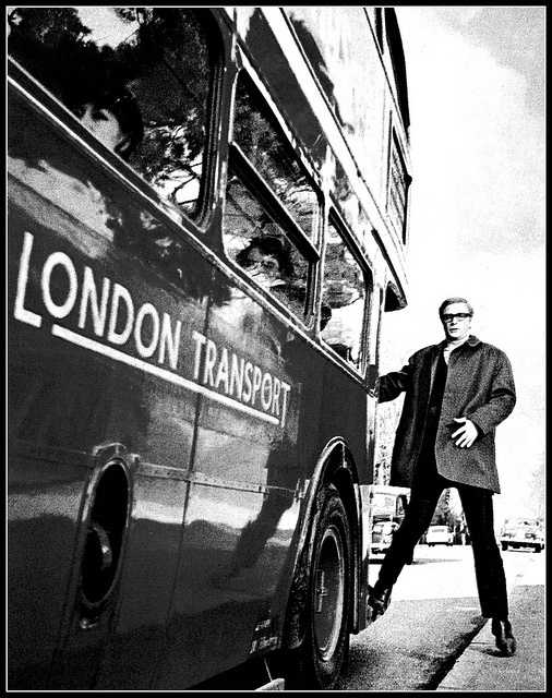 London transport RT bus & Micheal Caine 1960s B by Ledlon89, via Flickr