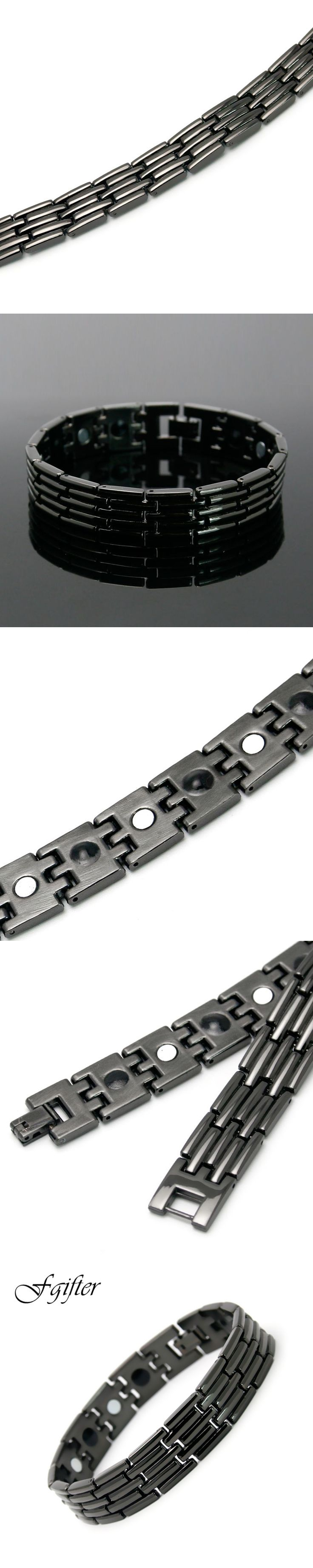 Black Stainless Steel Bracelet for Men High Quality Chain Link Bracelets 5 Styles Bangles Jewelry
