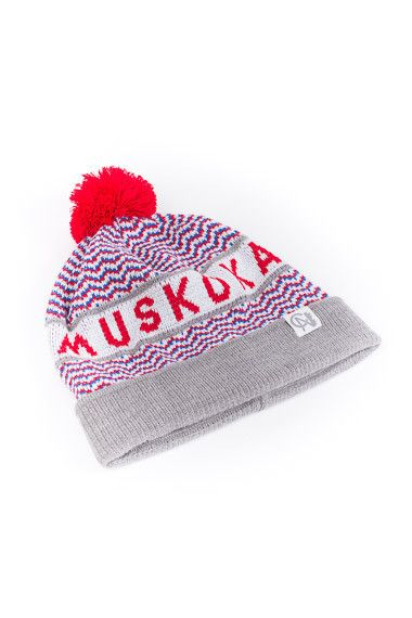Muskoka toque by Tuck Shop Trading Co. Inspired by the duplicity of the cottage and city lifestyle: natural settings of our rustic summer cabin versus our urban life in Toronto, Canada.