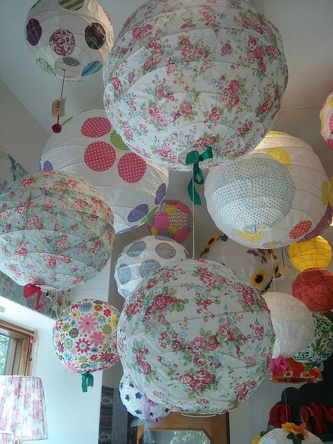 decorated paper lanterns