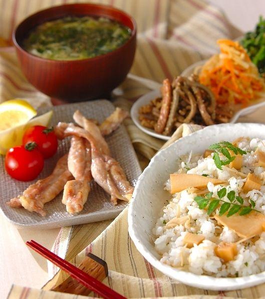 「タケノコの混ぜずし」の献立・レシピ - 【E・レシピ】料理のプロが作る簡単レシピ/2007.05.27公開の献立です。