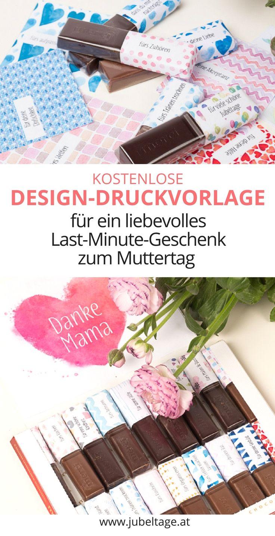 48 Schleifen für Merci Schokolade zum Ausdrucken um ein liebevolles Geschenk für Mama zum Muttertag selbst zu basteln.  48 Gründe um Danke zu sagen. (Diy Gifts)