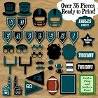 Philadelphia Eagles Football Photo Booth Props and Party Decorations