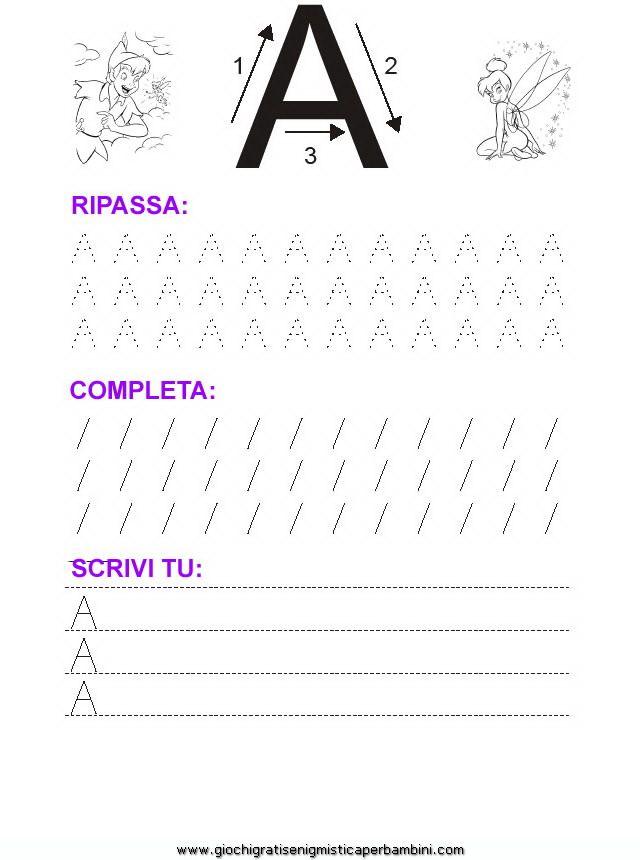 03_grafia_lettera_a Schede didattiche impara a scrivere le lettere