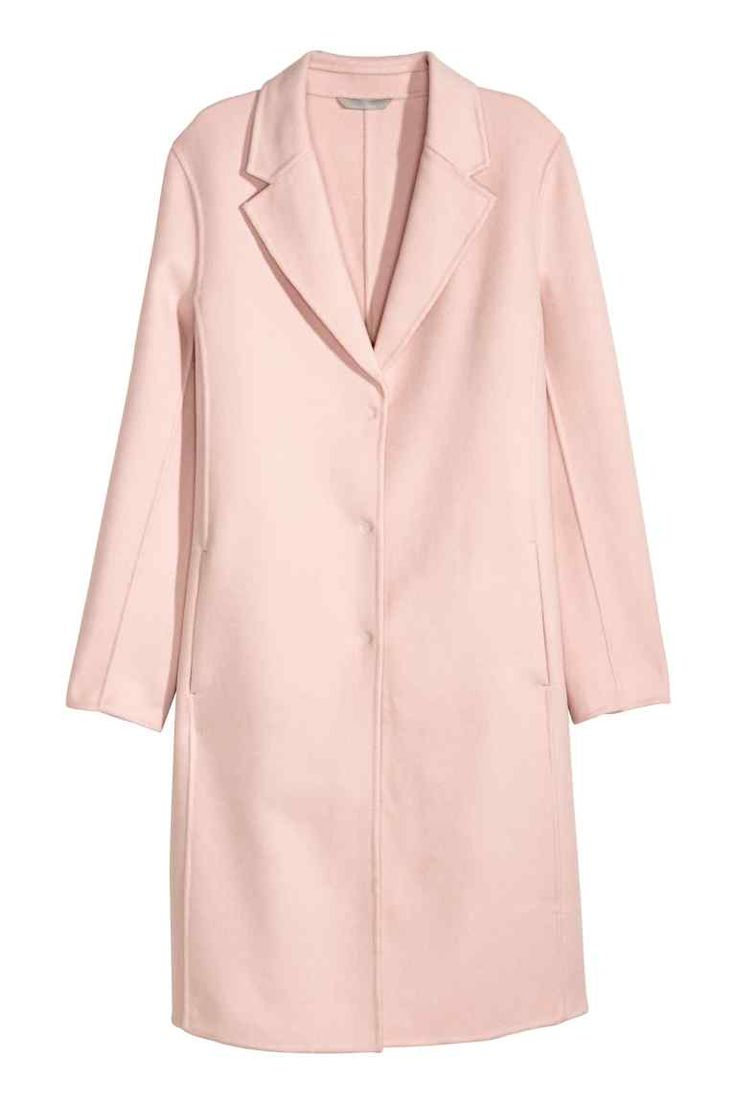 manteau femme laine rose framboise