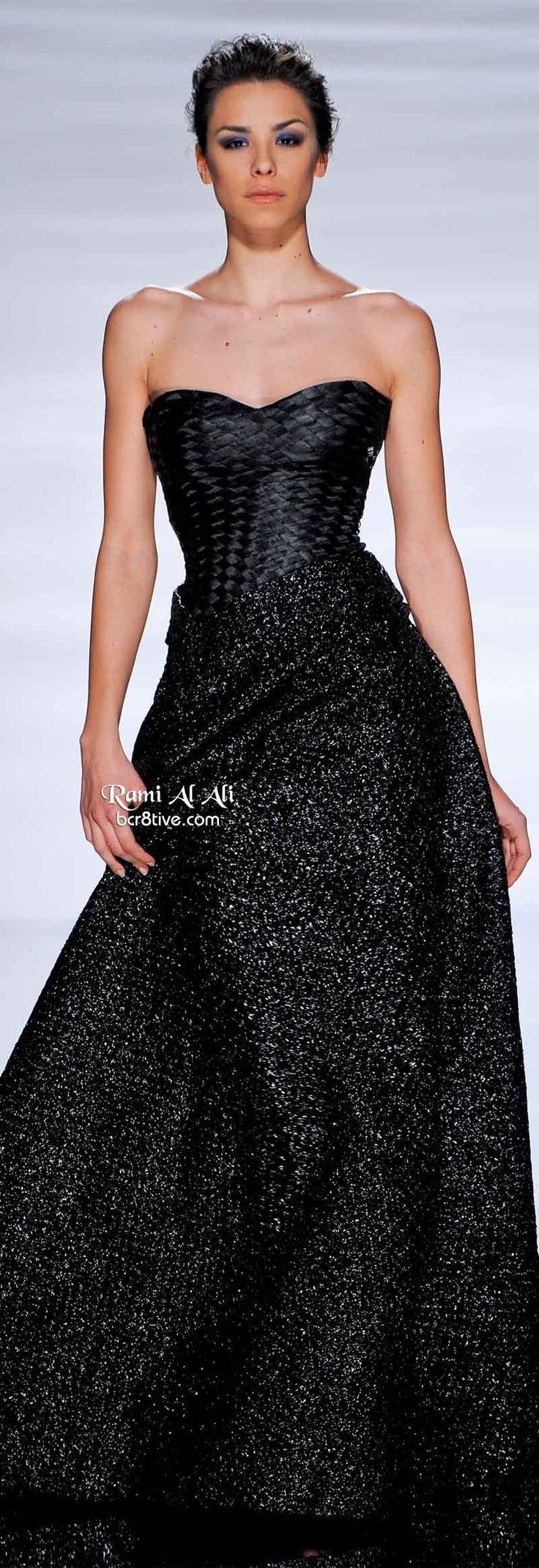 Rami Al Ali Spring 2011 | strapless | black | beaded | sequin-studded evening gown | couture