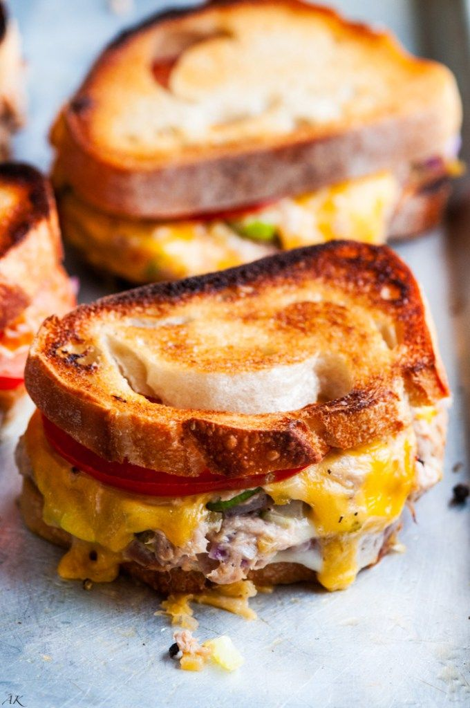 Sheet Pan Sourdough Tuna Melts | aberdeenskitchen.com
